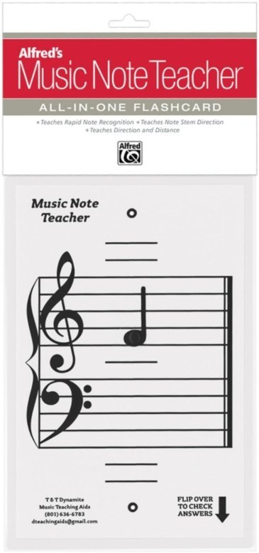 View larger image of Alfred's Music Note Teacher: All-In-One Flashcard (White)