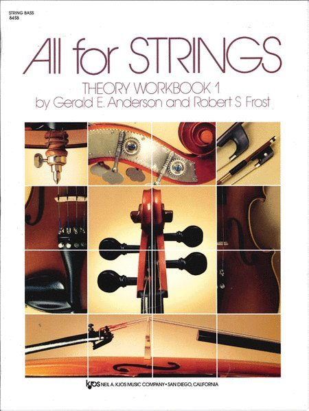 View larger image of All For Strings Theory Workbook 1 - String Bass