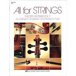 All For Strings Theory Workbook 1 - String Bass