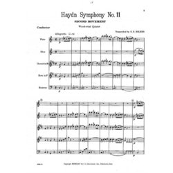 Allegretto from Symphony No. 11 - Woodwind Quintet