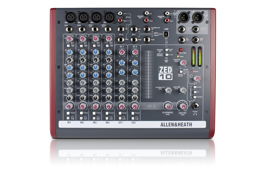 View larger image of Allen & Heath ZED-10 Multipurpose Mixer for Live Sound and Recording