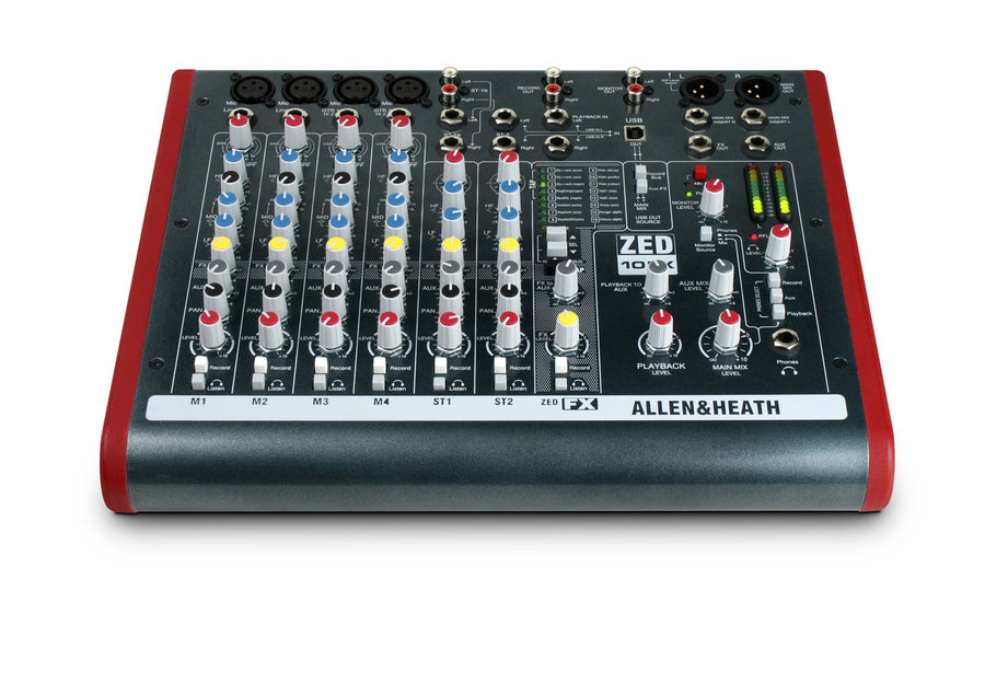 View larger image of Allen & Heath ZED-10FX Multipurpose Mixer with FX Four Live Sound and Recording