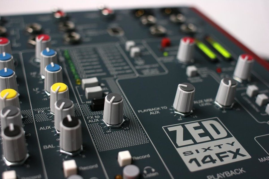 View larger image of Allen & Heath ZED60-14FX Multipurpose Mixer with FX for Live Sound and Recording