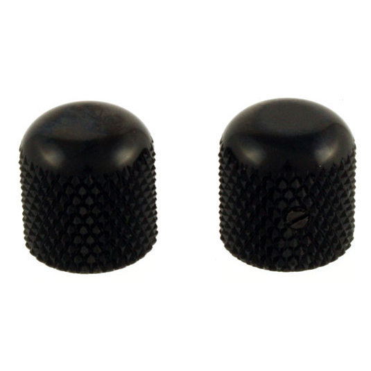 View larger image of Allparts Dome Knobs - Black, Flattened Top