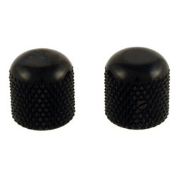 Allparts Dome Knobs - Black, Flattened Top