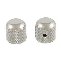 Allparts Dome Knobs - Chrome, Flattened Top