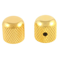 Allparts Dome Knobs - Gold, Flattened Top