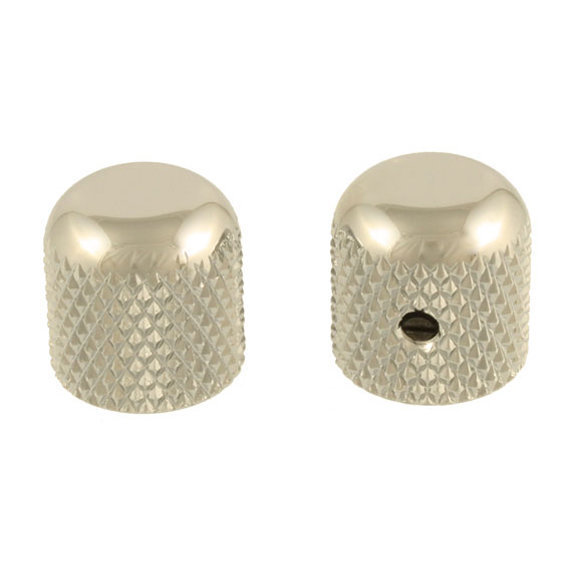 View larger image of Allparts Dome Knobs - Nickel, Flattened Top
