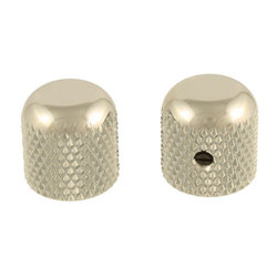 Allparts Dome Knobs - Nickel, Flattened Top