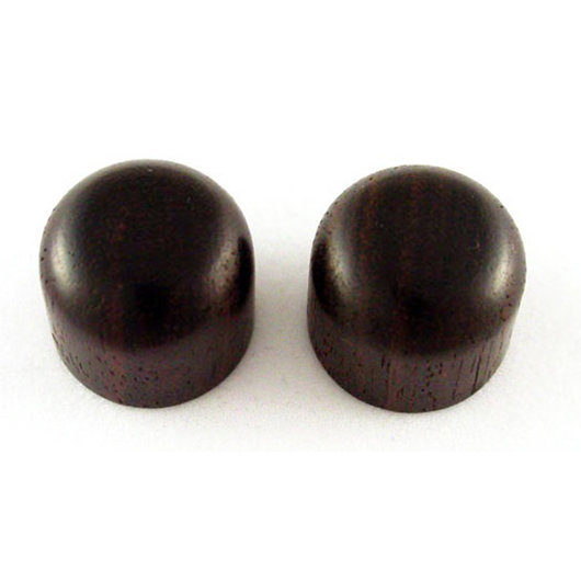 View larger image of Allparts Dome Knobs - Rosewood, Press-On
