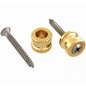 View larger image of AllParts Economy Schaller Strap Buttons - Gold, Pair