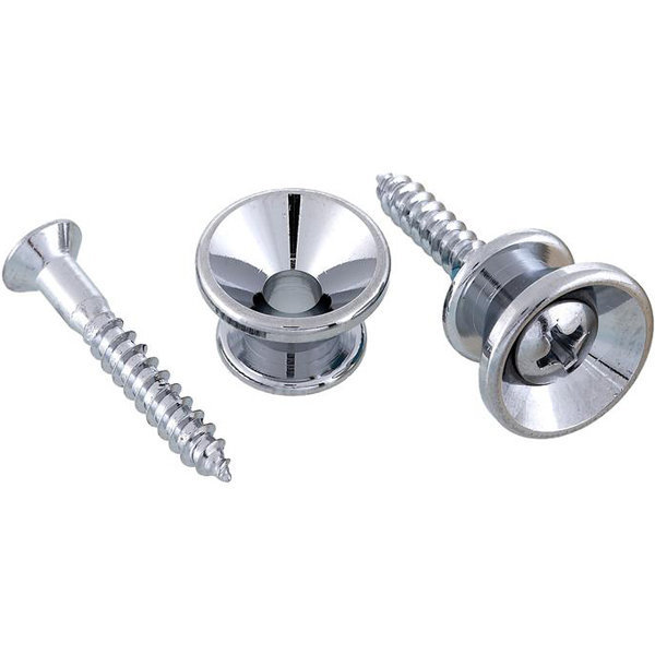 View larger image of Allparts Gotoh Strap Buttons - Chrome, 30 Pack