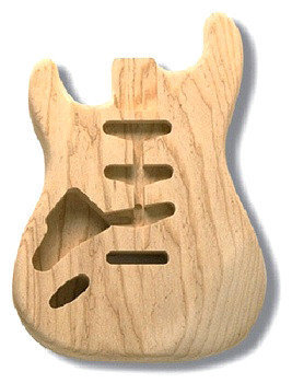 View larger image of AllParts SBAO-L Replacement Body for Strat - No Finish - Left Handed