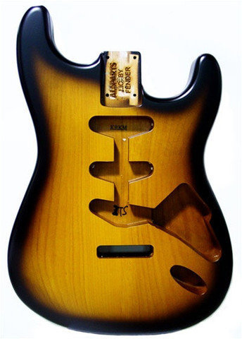 View larger image of AllParts SBF-2SB Body for Strat - Finished - 2 Tone Satin Sunburst