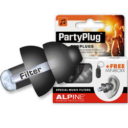 Alpine PartyPlug Ear Plugs - Black