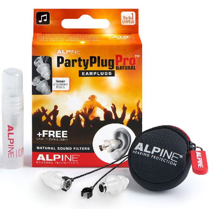 View larger image of Alpine PartyPlug Pro Natural Ear Plugs