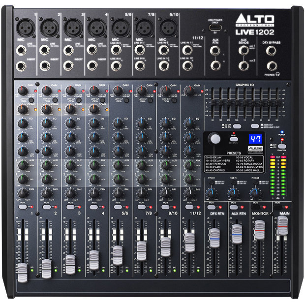 View larger image of Alto Professional Live 1202 12-Channel/2-Bus Mixer