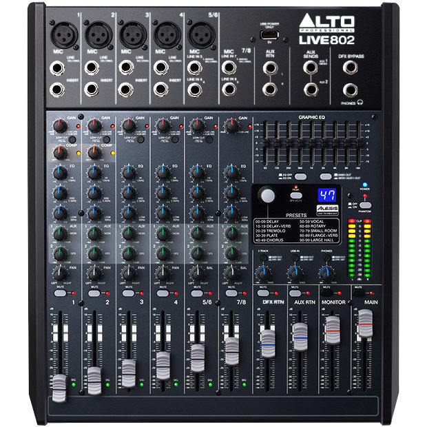 View larger image of Alto Professional Live 802 8-Channel/2-Bus Mixer