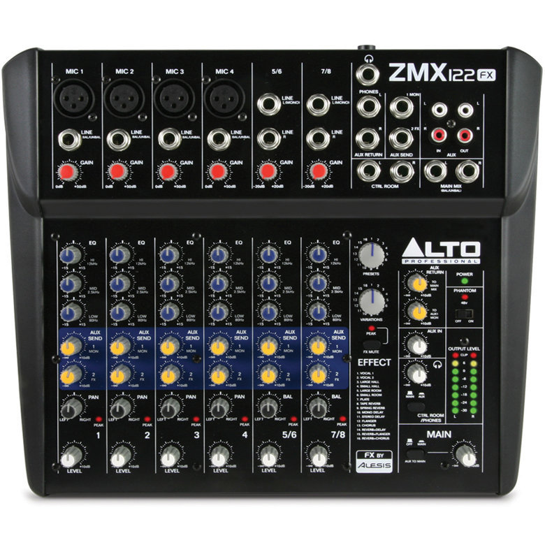 View larger image of Alto Professional ZMX122FX 8-Channel Compact Mixer