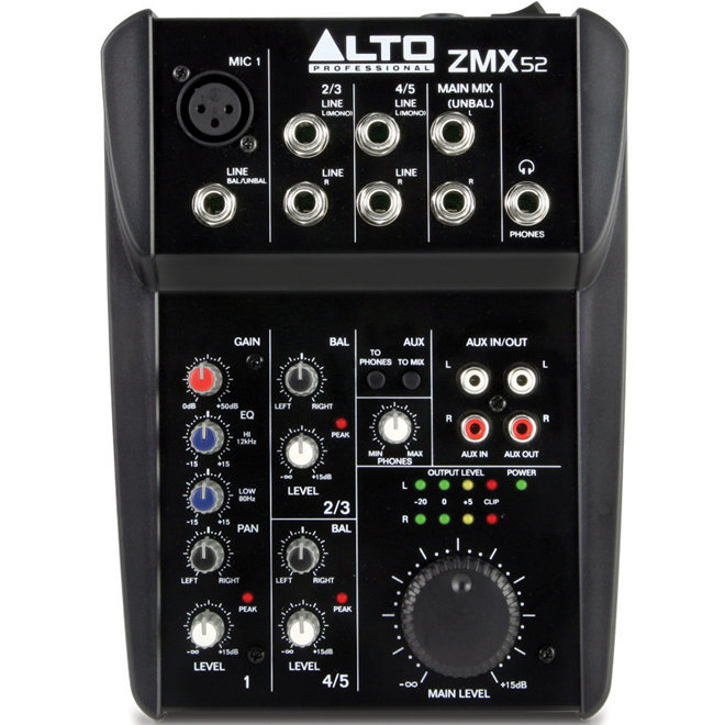 View larger image of Alto Professional ZMX52 5-Channel Compact Mixer