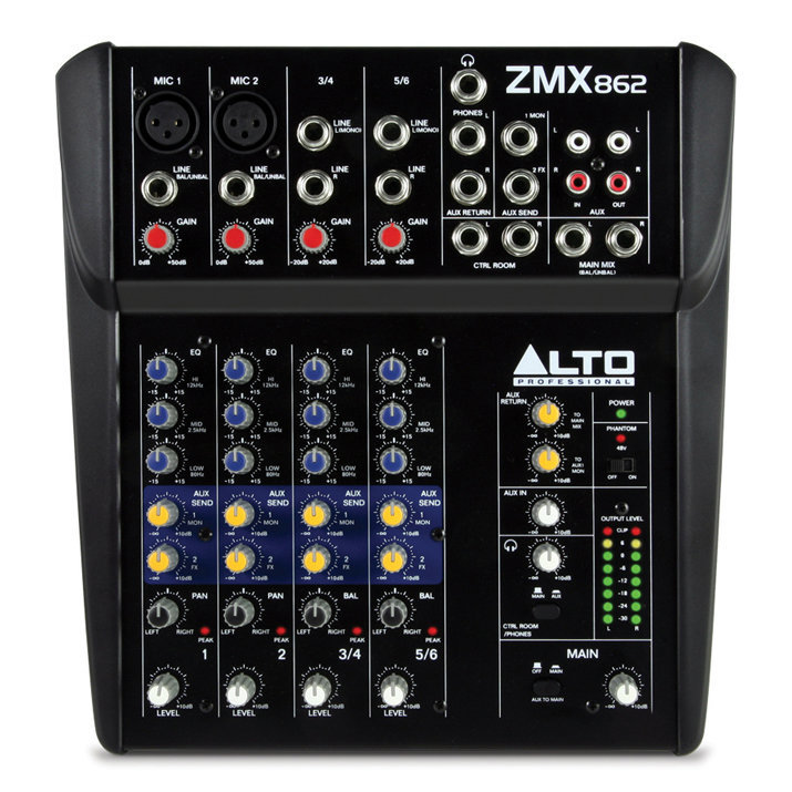 View larger image of Alto Professional ZMX862 6-Channel Compact Mixer