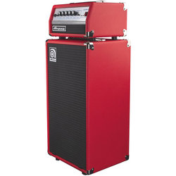 Ampeg Micro Bass Amp Head and Cabinet Stack - Limited Edition Red