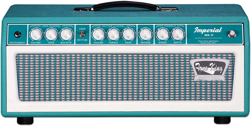 View larger image of Tone King Imperial MKII Guitar Amp Head - Turquoise