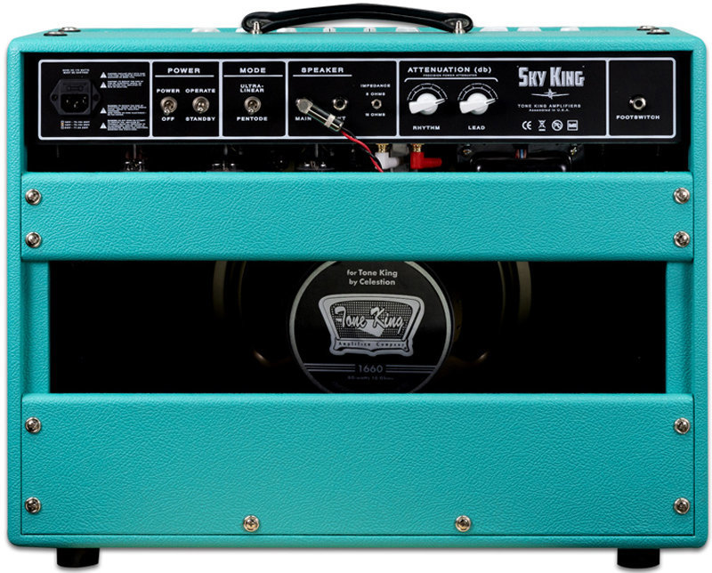 View larger image of Tone King Sky King Guitar Combo Amp - Turquoise