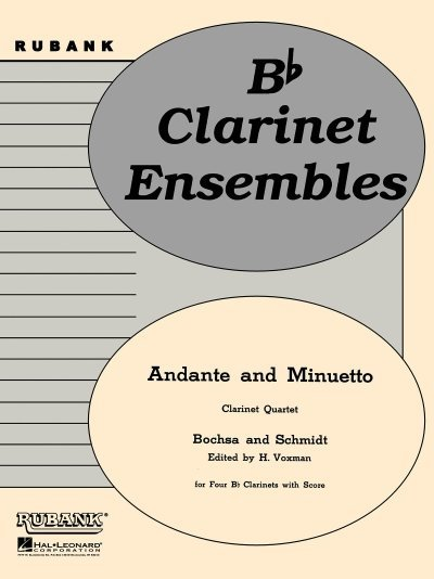 View larger image of Andante and Minuetto - Clarinet Quartet