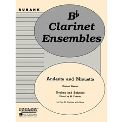Andante and Minuetto - Clarinet Quartet