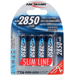 Ansmann SlimLine Rechargeable AA Battery - 4 Pack