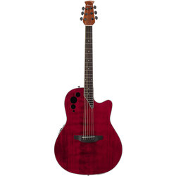 Applause by Ovation Elite AE44II-RR Acoustic-Electric Guitar - Ruby Red