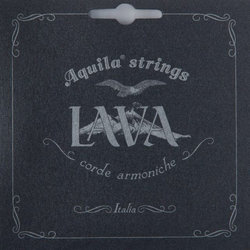 Aquila Black Lava Ukulele Strings - Concert Set Low G