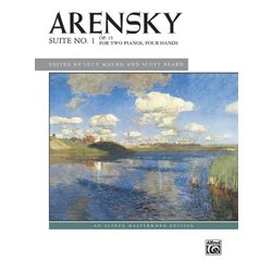 Suite No. 1, Op. 15 (Arensky) - Two Piano/Four Hands