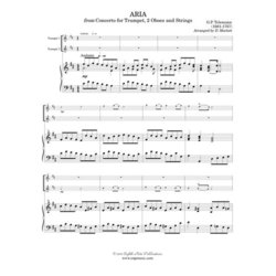 Aria from Concerto for Trumpet and 2 oboes - (Trumpet Duet)