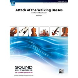Attack of the Walking Basses (A Halloween Bass-tacular) - Score & Parts, Grade 1.5