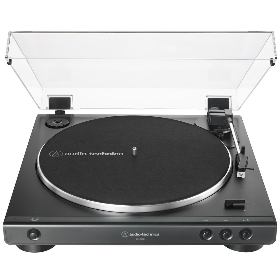 View larger image of Audio-Technica AT-LP60X Fully Automatic Belt-Drive Turntable - Black