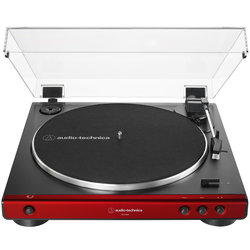 Audio-Technica ATLP60X Fully Automatic Belt-Drive Turntable - Red