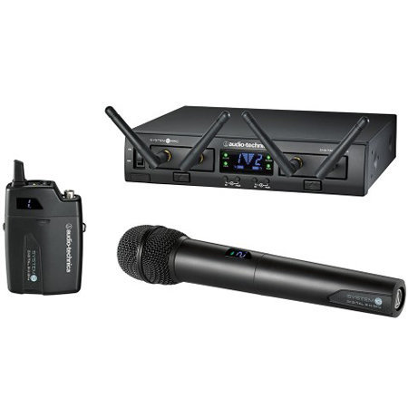 View larger image of Audio-Technica ATW1312-L System 10 PRO Handheld/Lavalier Microphone System