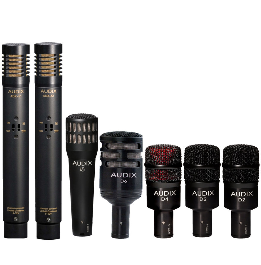 View larger image of Audix DP7 7-Piece Drum Microphone Pack