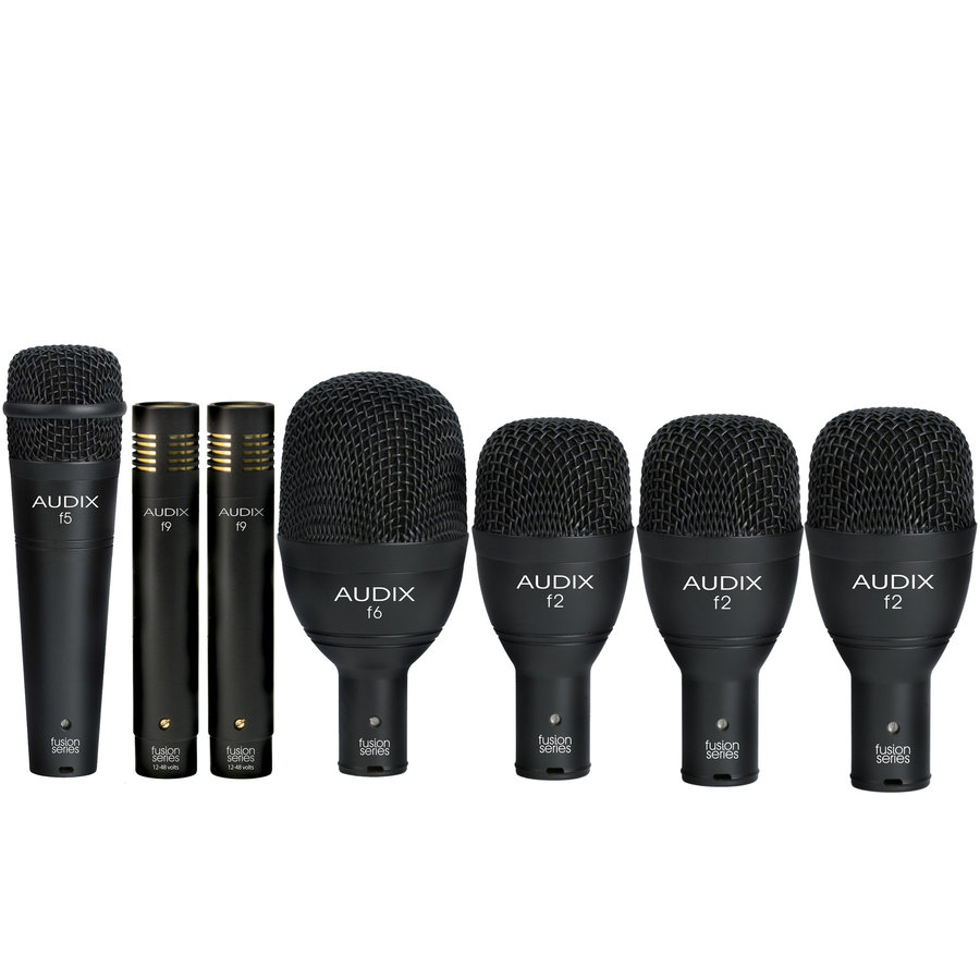 View larger image of Audix FP-7 7-Piece Fusion Drum Microphone Pack