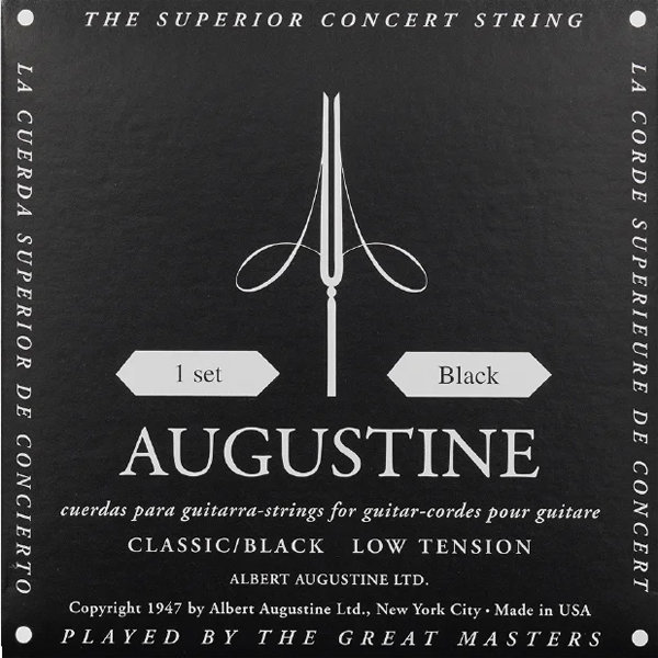 View larger image of Augustine Black Classical Guitar Single String - Light Tension D or 4th
