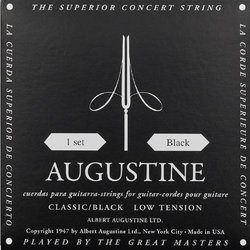Augustine Black Classical Guitar Single String - Light Tension D or 4th