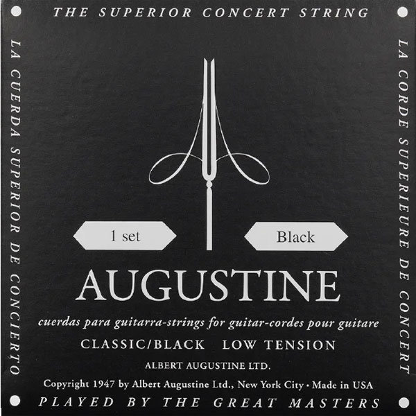 View larger image of Augustine Classic Black Single Classical Guitar String - Light Tension E or 1st