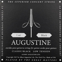 Augustine Classic Black Single Classical Guitar String - Light Tension E or 1st
