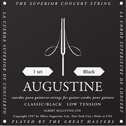 Augustine Classic Black Single Classical Guitar String - Low Tension E or 6th