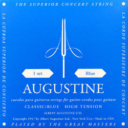 Augustine Classic Blue Single Classical Guitar String - Heavy Tension B or 2nd