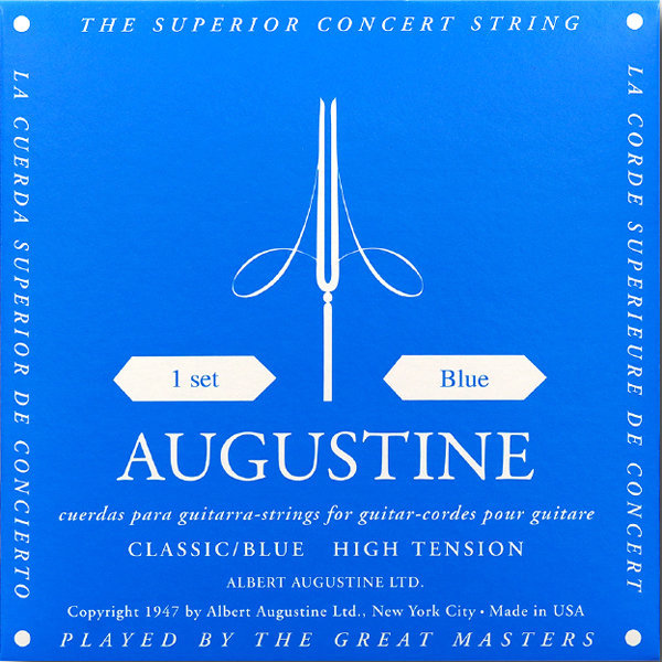 View larger image of Augustine Classic Blue Single Classical Guitar String - Heavy Tension D or 4th
