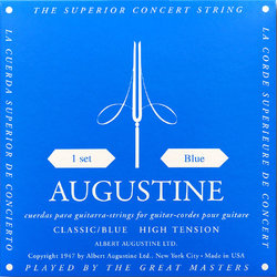 Augustine Classic Blue Single Classical Guitar String - Heavy Tension D or 4th
