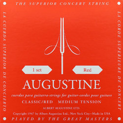 Augustine Classic Red Single Classical Guitar String - Medium Tension A or 5th
